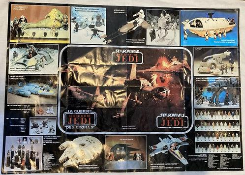 Vintage Star Wars Return Of The Jedi Playset Poster 1983