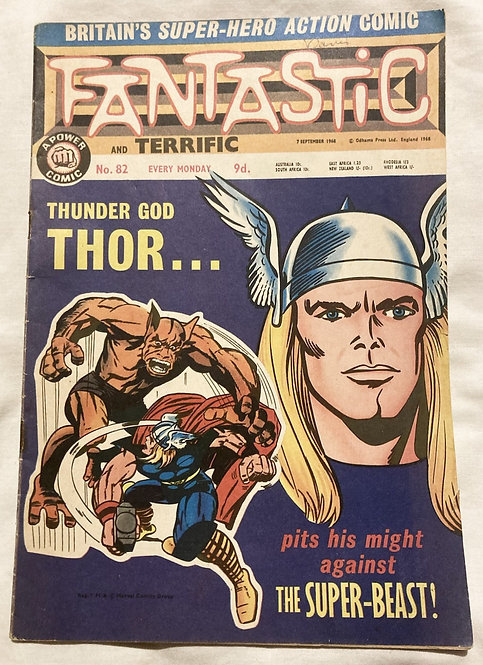 Marvel Fantastic The Mighty Thor No 82 September 1965