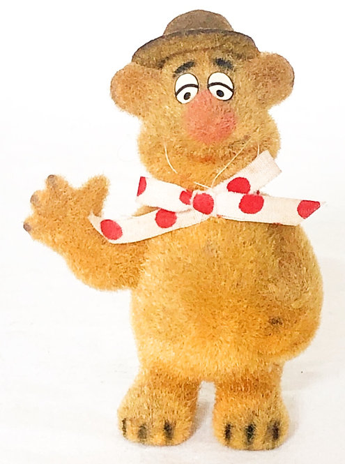 The Muppets Fozzy Bear Flocked 1977