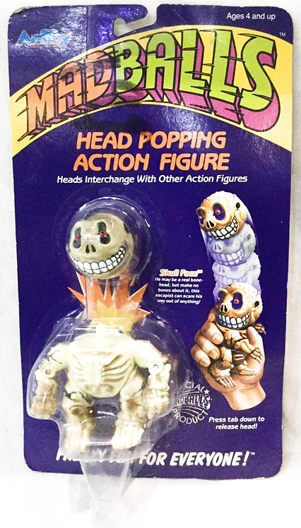 Mad Ball Head Popping Skull Face Amtoy