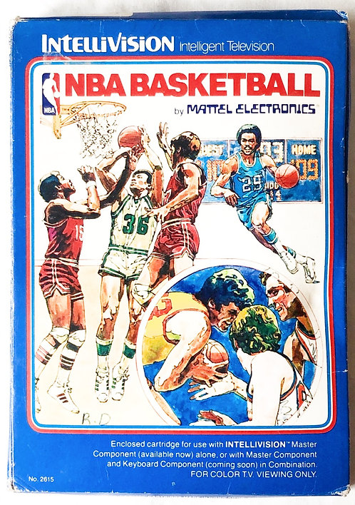 NBA Basketball Intellivision Intelligent Television U.K. (PAL)