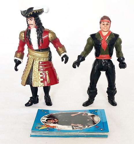 HOOK Peter Pan Figure And Card Set Mattel 1991