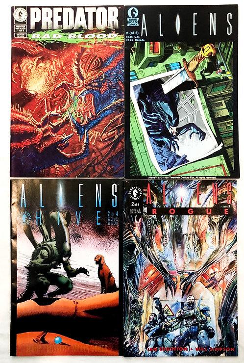 Vintage Alien And Predator Mix Comic Set