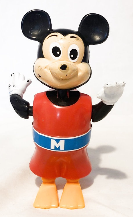 Swimming Mickey Mouse Wind-up Bath Toy Tomy 1976