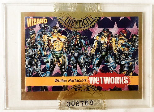 Wizard Magazine Limited Edition Sealed Gold Promo Card Wetworks 199