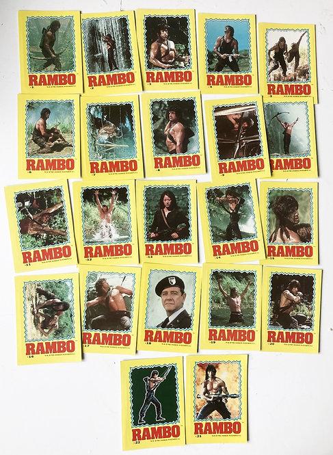 Rambo Sticker Set 1-22 Anabasis 1985