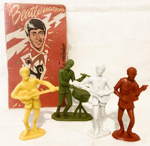 Beatlemania Beatles Plastic Figures Set 1964