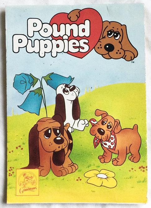 Pound Puppies Colouring Pad Grandreams 1984