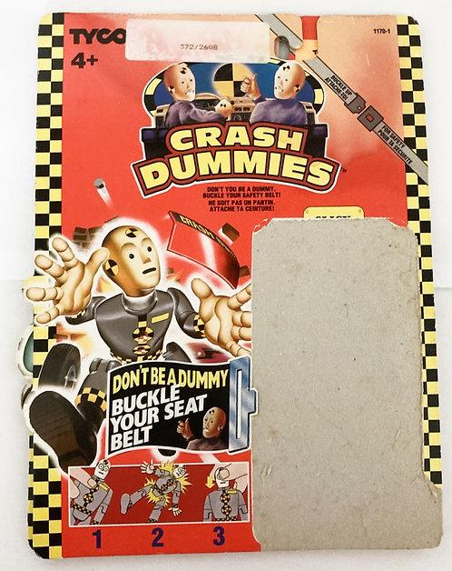 Crash Dummies Slick Backing Card Tyco 1991
