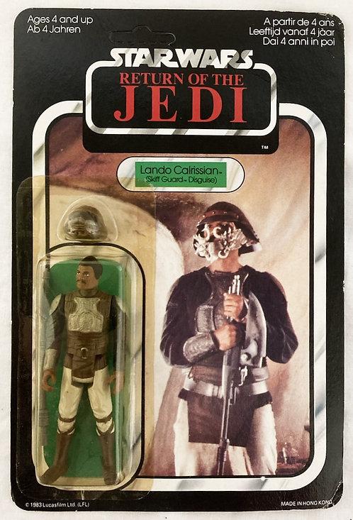 Vintage Star Wars Return Of The Jedi Lando Skiff German 65 Back Palitoy 1983
