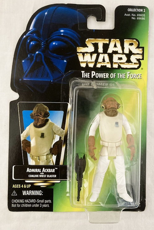 Star Wars The Power Force Admiral Akbar Japan Card Back Kenner 1995