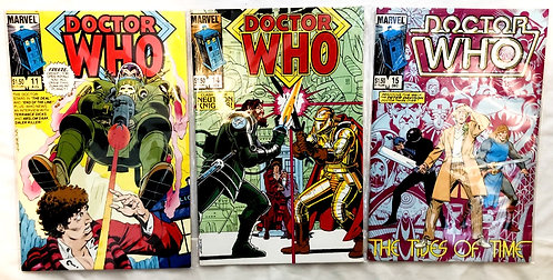 Vintage Doctor Who Comic Set #15 #14 #11 1985