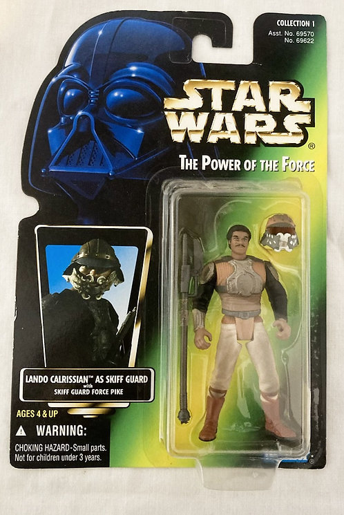 Star Wars The Power Force Lando Skiff Guard Japan Card Back Kenner 1995