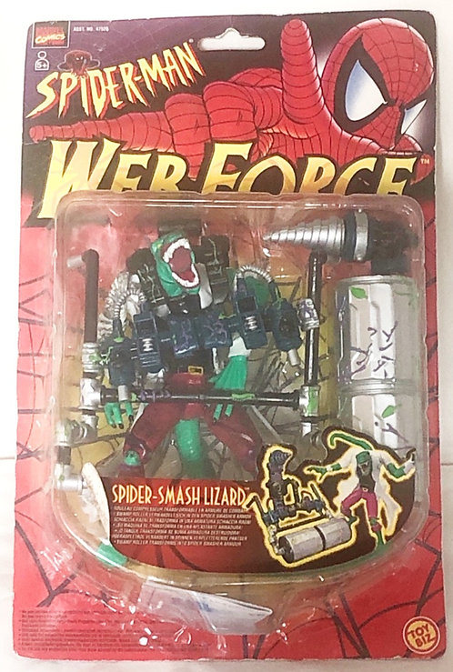 Spider-Man Web-Force Spider-Smash Lizard Toy Biz 1997