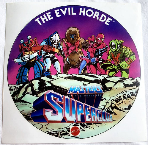 He-Man And The Masters Of The Universe Super Fan Club Sticker 15.5cm 1986