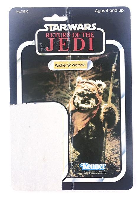 Vintage Star Wars ROTJ Wicket W. Warrick Backing Card