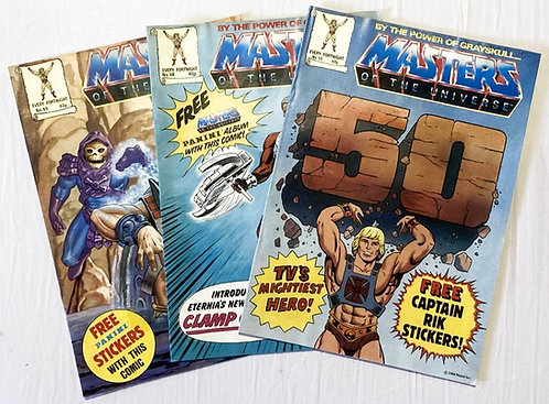 He-Man And The Masters Of The Universe Comic Set No. 48 49 50 1988