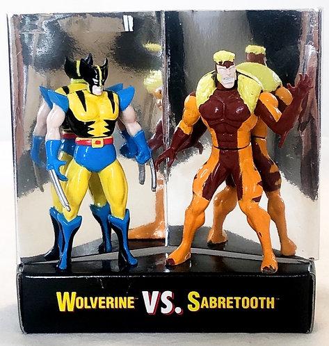 X-Men Steel Mutants Wolverine Vs Sabretooth Toy Biz 1994
