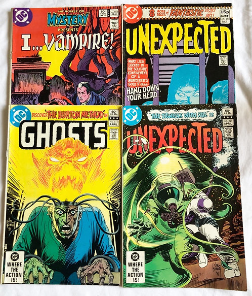 DC  Vintage Horror Set Of Comics Ghosts Unexpected I.. Vampire