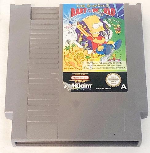 The Simpsons Bart Vs The World Nintendo NES U.K. (PAL)