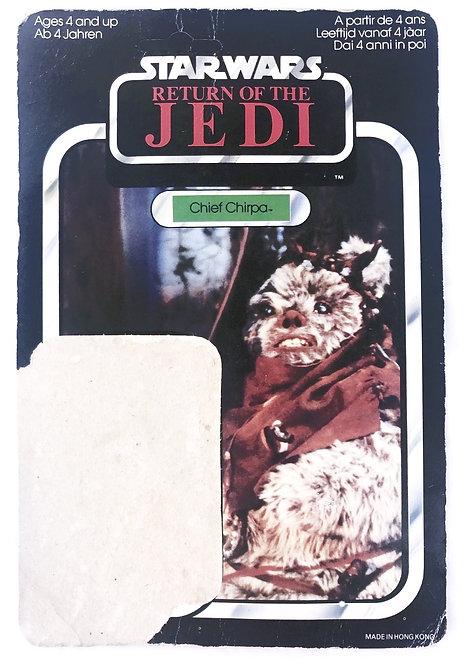 Vintage Star Wars ROTJ Chief Chirpa Backing Card