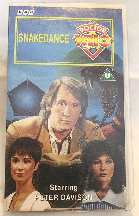 Doctor Who Snakedance VHS Video Peter Davison