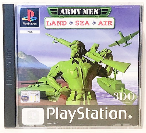 Army Men Land, Sea, PlayStation Game U.K. (PAL)
