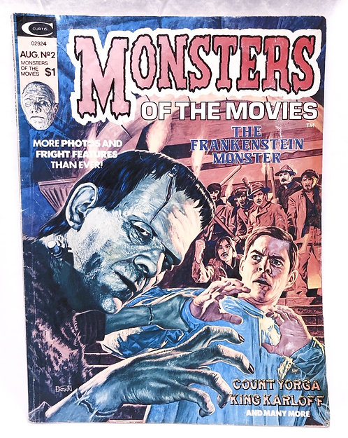 Vintage Monsters Of The Movies Magazine