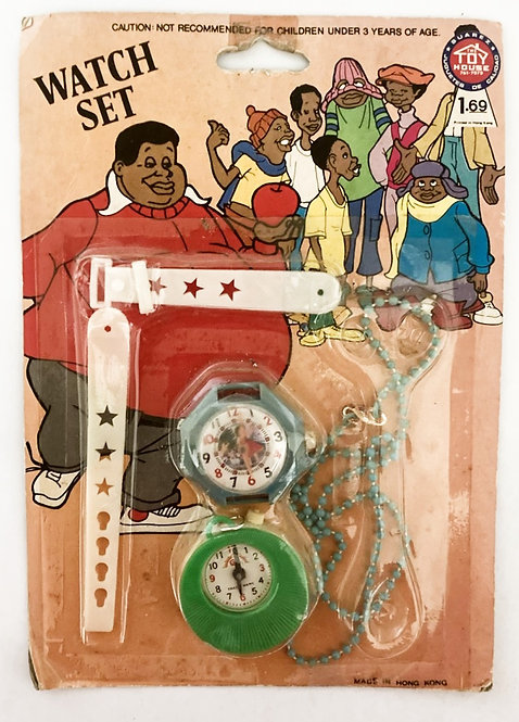 Fat Albert Watch Set The Toy House Honk Kong 1975