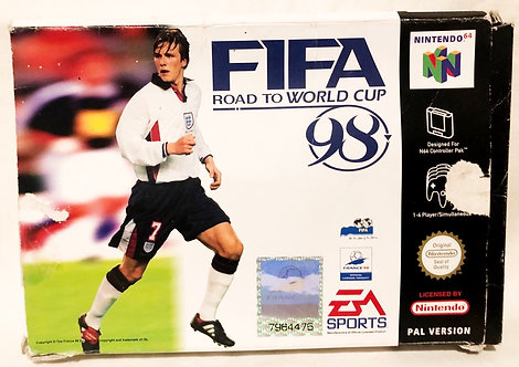 FIFA Road To World Cup 98' Nintendo 64 Game U.K. (PAL)