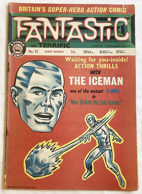 Marvel Fantastic The Iceman No 81 August 1968