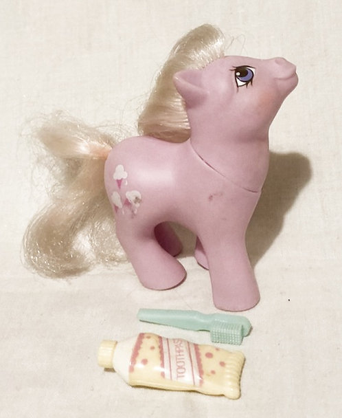 My Little Pony Baby Lickety-Split Brush and Toothpaste 1984