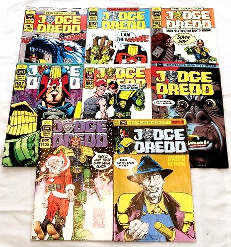 Judge Dredd Comic Set #1 #2 #3 #7 #8 #34 #35 #6