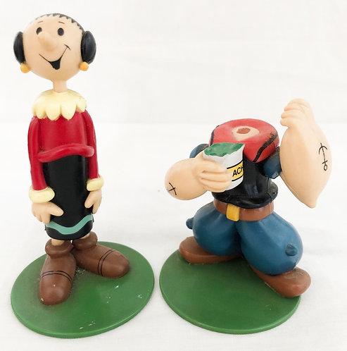 Popeye Olive Oil And Popeye Figure Set Bandi 1998