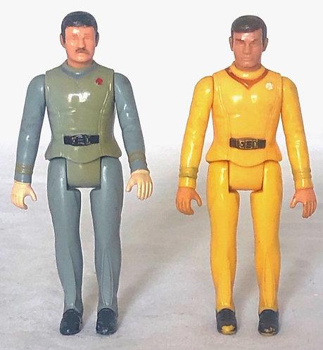 """Star Trek Figure Set 3.5"""" Mego 1979"""