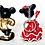 Thumbnail: Disney Vintage Mickey And Mini Mouse Key Ring PVC Bully