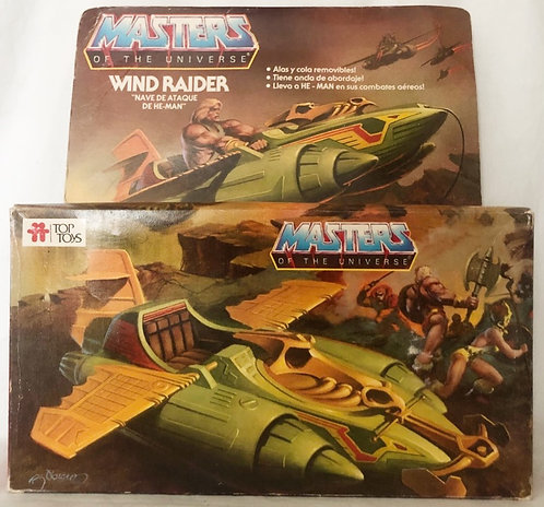 He-Man And The Masters Of The Universe Wind Raider Top Toys  Argentina 1983