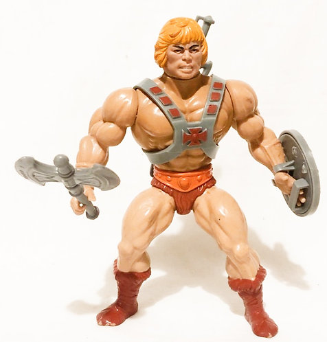 He-Man Masters Of The Universe He-Man (Belly Button) Dishwash Blonde Taiwan 1981