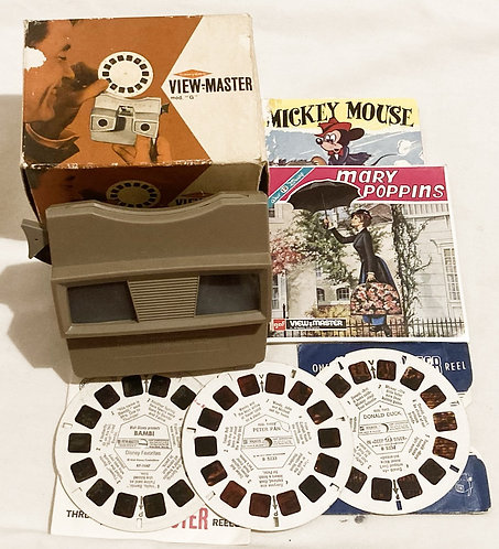 """Sawyers View-Master Mod """"G"""" With Exrta Reels Disney Mary Poppins Donald Duck"""