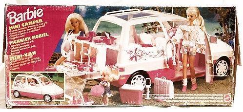 Barbie Picnic Mini Van With Picnic Accessories Mattel 1995