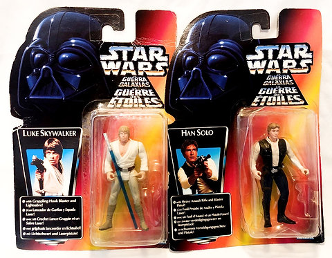 Star WarsThe Power Of The Force Han And Luke Figure Set 1995