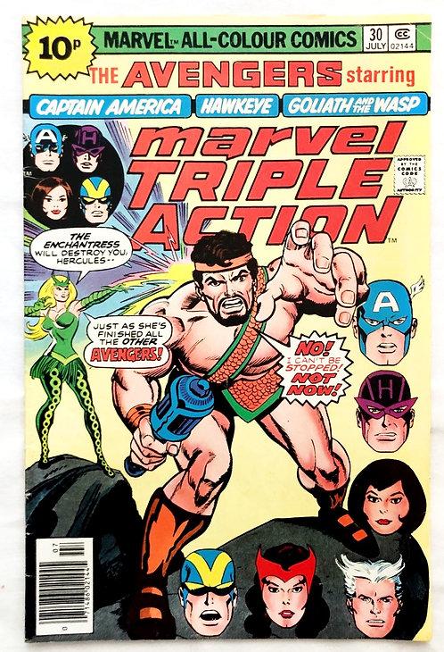 The Avengers Marvel Triple Action #30 1976