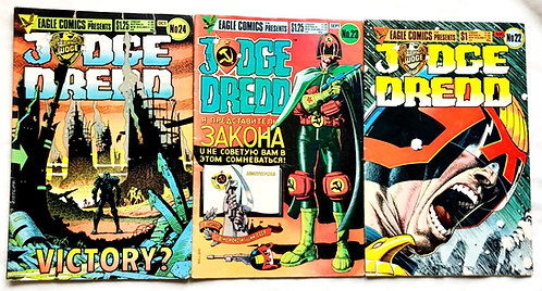Judge Dredd Comic Set #22 #23 #24 1985