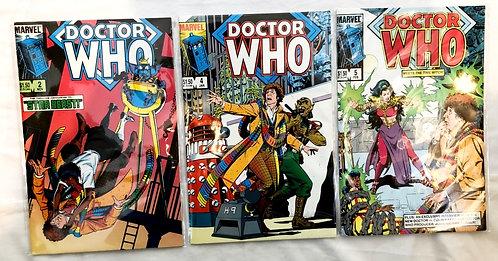 Vintage Doctor Who Comic Set #5 #4 #2 1984