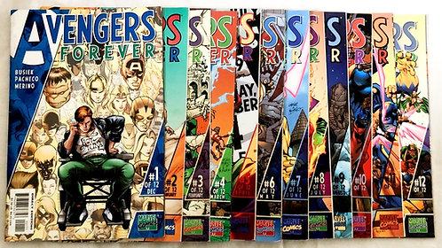 Avengers Forever Comic Set Marvel #1-12