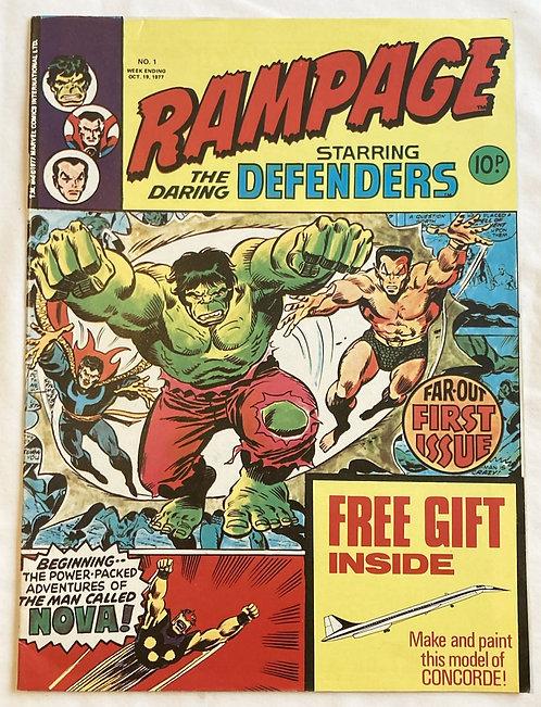 Marvel Rampage The Daring Defenders Hulk No 1 October 1977