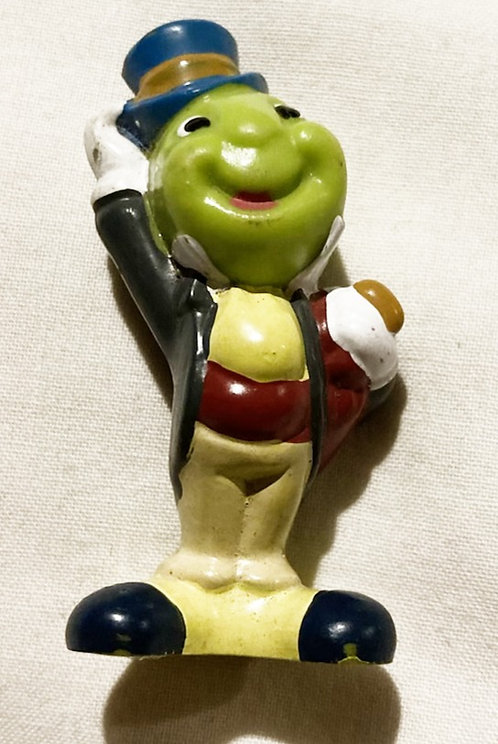 Disney Jiminy Cricket Pinocchio PVC Tipping Top Hat 2.25""