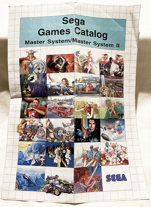 Sega Master System Games Catalog 1990