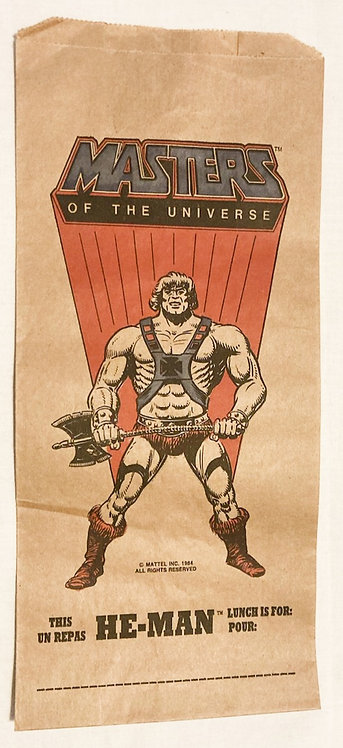 He-man And The Masters Of The Universe  Lunch Bag U.S.A. Randim 1985