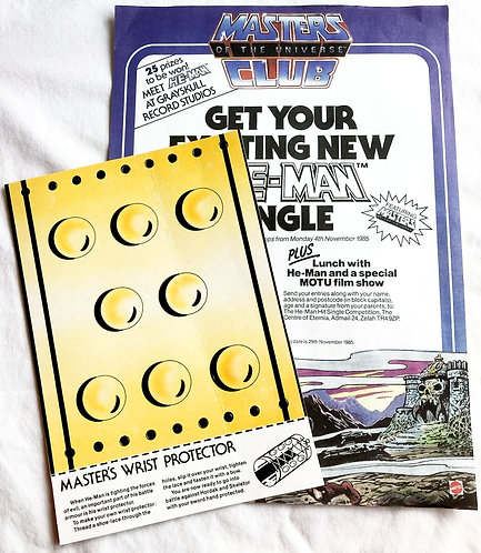 He-Man And The Masters Of The Universe Super Fan Club Ad And Wrist Protector 19